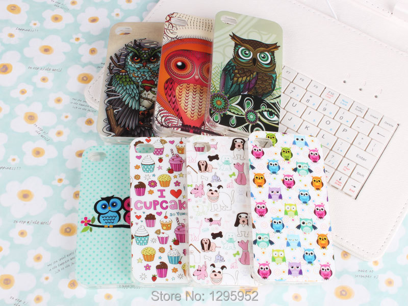 Fashion Design Owl Dog Cake Silicone Rubber TPU Soft Case Cover iPhone 4 4S - DDT Phone Store store