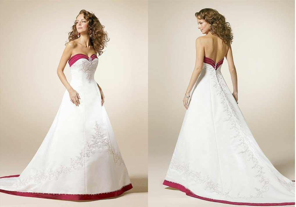 White Wedding Dresses With Red Trim : Compare prices on white wedding dress with red trim
