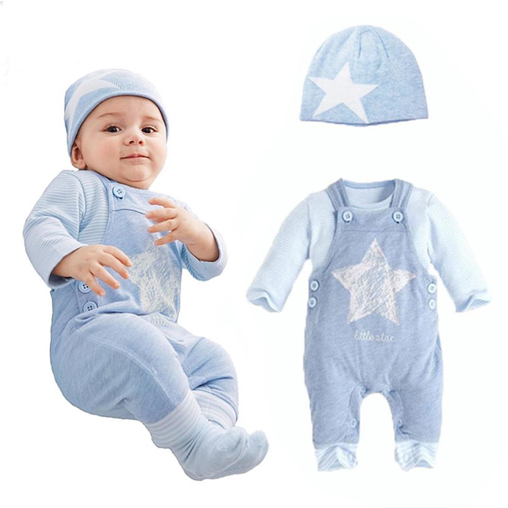 baby clothing sets spring newborn boys 3pcs suits Hat