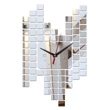 Buy 2017 new hot sale acrylic wall art clock safe modern design 3d crystal mirror watches home decoration living room for $4.98 in AliExpress store