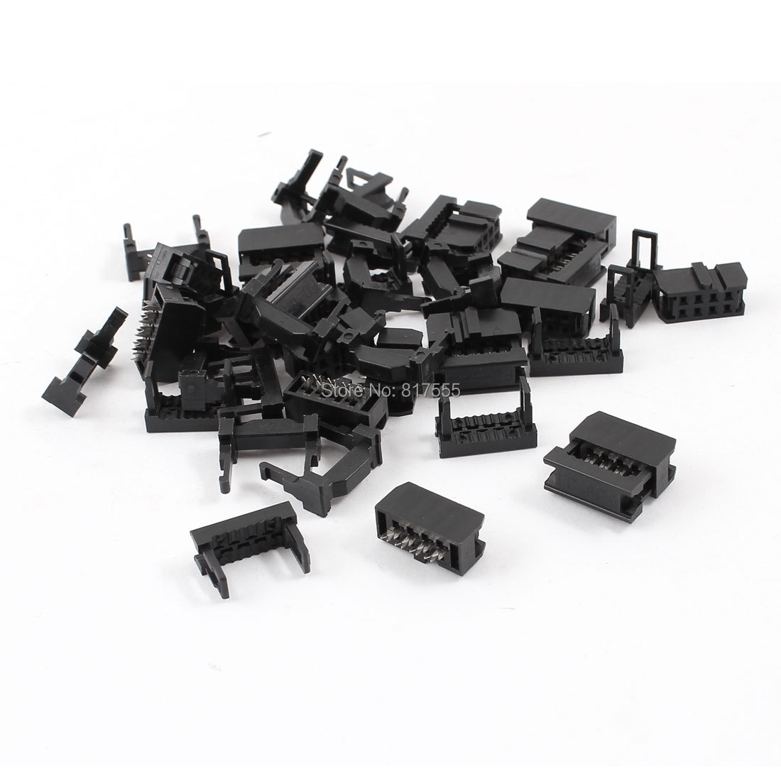 15 x Dual Row IDC Connector FC-8P 2x4Pin Female Header 2.54mm Pitch Discount 50(China (Mainland))