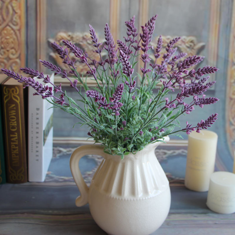 Mini Fresh Green Fake Plants Artificial Bouquet Lavender Leaves Grass Wedding Home Floral Decor Flowers Arrangement(China (Mainland))