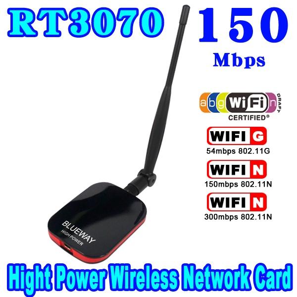 Hot Sale High Power/Speed N9000 Free Internet Wireless USB WiFi Adapter 150Mbps Long Range + Wi fi Antenna Wi-fi Receiver(China (Mainland))