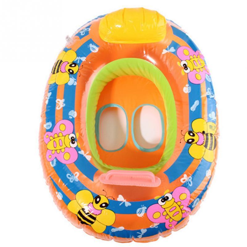 Summer Children Swim Ring Cute Cartoon PVC Kids Baby Child Inflatable Swimming Laps Pool Swim Ring Seat Float Boat Water Sports(China (Mainland))
