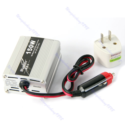 Y82- Free Shipping New 150W DC 12V to AC 220V Auto Car Inverter USB Power Supply Adaptor Converter(China (Mainland))