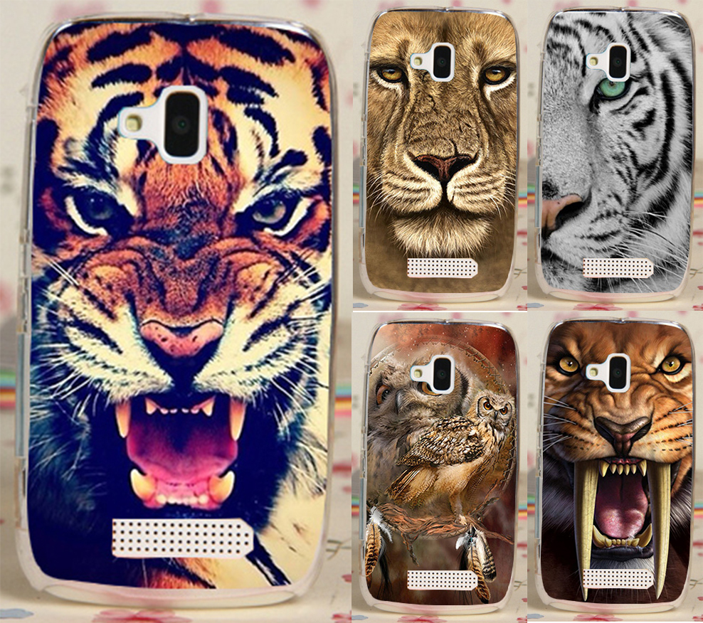 Best Selling Print Lion Tiger OwL PC Plastic Hood Phone Case Cover For Nokia Lumia 610 N610 Phone Cases Covers Skin Shell(China (Mainland))
