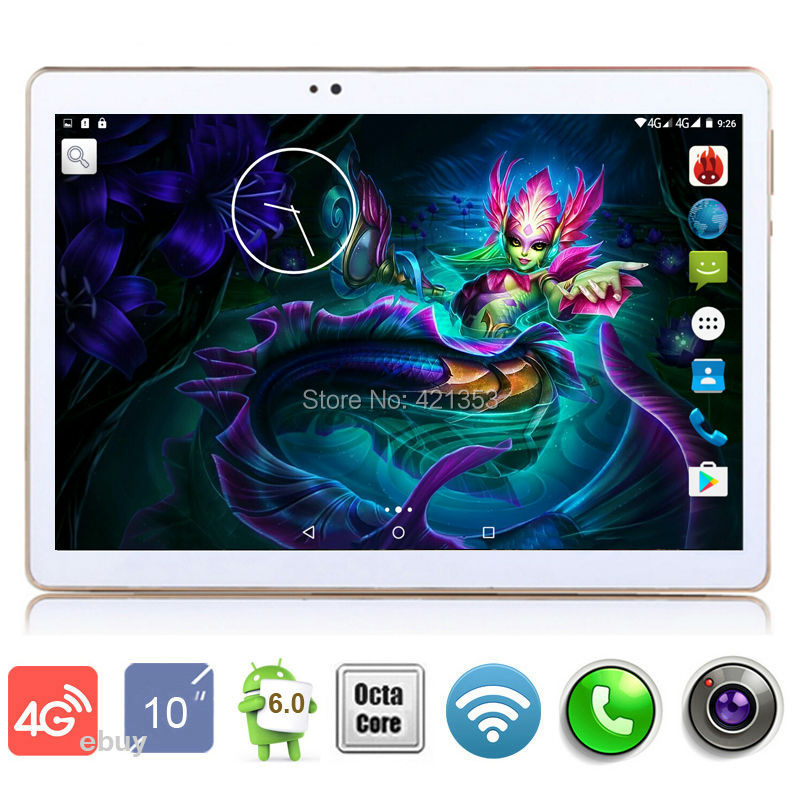 2017 New 10 inch Tablet PC Octa Core 4GB RAM 32GB ROM Wifi OTG 4G LTE Android 6.0 Tablet GPS Pad tablet pcs 10.1+Gifts(China (Mainland))