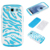 Zebra Hybrid Matte Silicone Cover Case For Samsung Galaxy S3 I9300