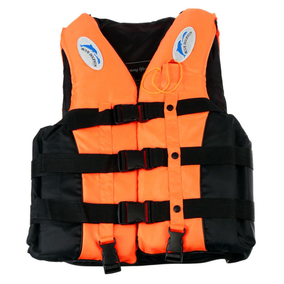 6 Sizes Swimmwing Boating Polyester Adult Life Jacket Foam Vest Survival Suit with Whistle for Swimming Drifting Device+Whistle(China (Mainland))