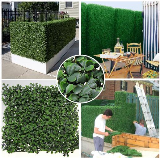 Plantas 50 cm X 50 cm à prova de fogo de hedge buxo Artificial anti-UV privacidade esgrima folhagem grama folha jardim ornaments-G0602A001J(China (Mainland))