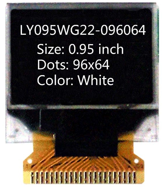0.95 inch  96x64 oled panel oled display oled