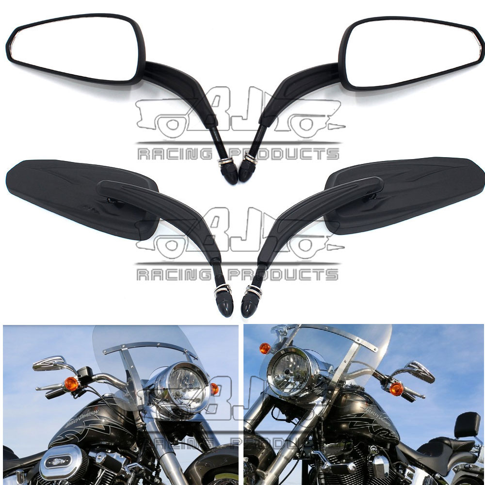 RM400-014-BK 7/8 22mm Aluminum Adjustable Motorcycle Rearview Mirror Bike Handle Bar End Mirrors Oval For Harley<br><br>Aliexpress