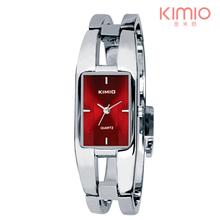 2015 precio de la promoción señora elegante ocio de moda alta calidad en acero inoxidable del color del reloj kimio reloj de para