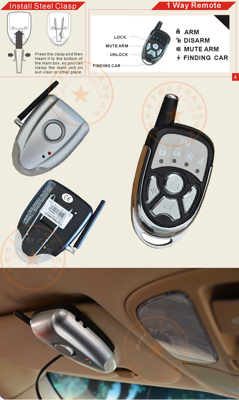 Cardot Diy Two Way Car Alarm System Is With Shock And Air How To Install Alarms Page02 Page01 Page 04