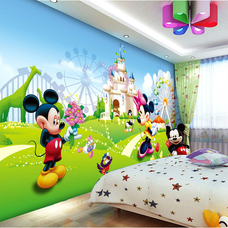 Wallpaper Boys Kids Girls Room Decor Bedroom Art Home Decoration