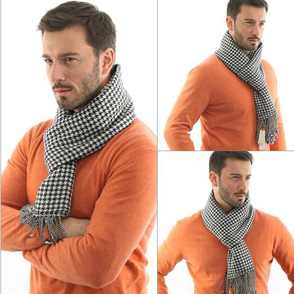 Winter Plaid font b Tartan b font Scarf Women Cozy Warm Muffled Shawl Colorful Houndstooth Scarves