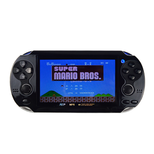 4.3 inch LCD Screen MP4MP5 Player Games Console Handheld Game Player 4gb ebook/FM/1.3 MP Camera+Retail Package freeship DZ1061(China (Mainland))