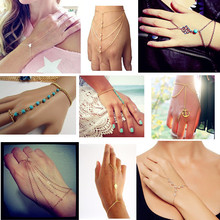 Gold/Silver Slave Hand Finger Bracelets & Bangles for Women Fashion Charms Harness Pulseiras Mujer Bijoux 2015 Summer Jewelry(China (Mainland))