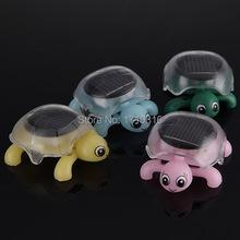 Brand New Mini Sunlight Solar Educational Toy Little Tortoise Turtle Gift Fr Children Gift(China (Mainland))