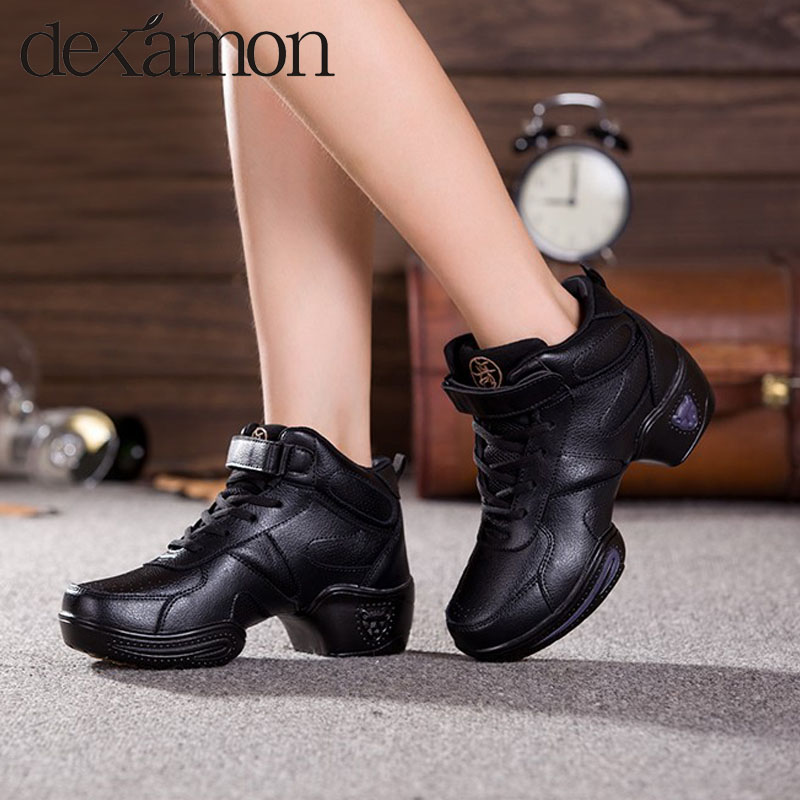 2015 new women men soft base increases modern jazz dance shoes leather high dancing size 30-44 - Far-spreading Co.,Ltd-sports store