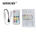 SZYOUMY DC 5 24V 21 key IR Led Controller For Strip WS2811 WS2812B TM1804 TM1809 INK1003