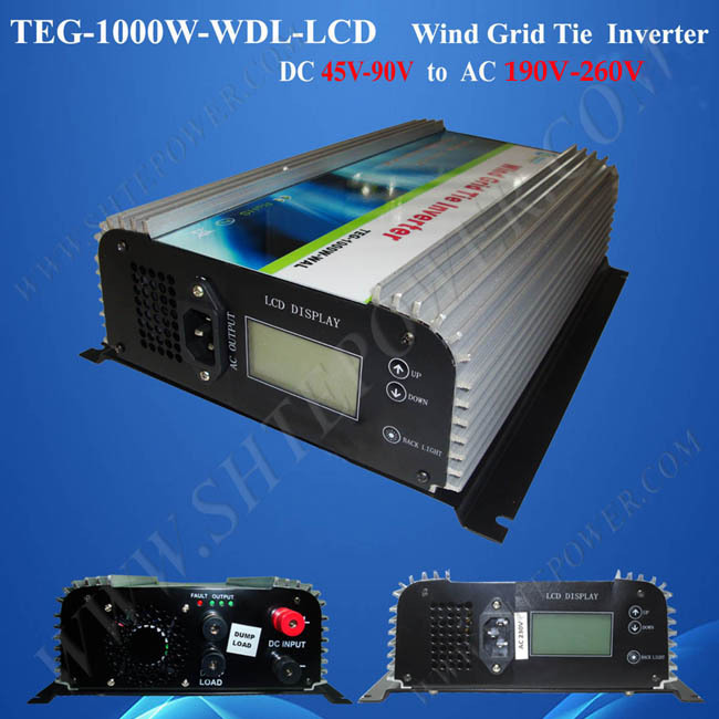 DC 45-90v to AC 190-260v 1000w Grid Wind Inverter 48VDC 240VAC(China (Mainland))