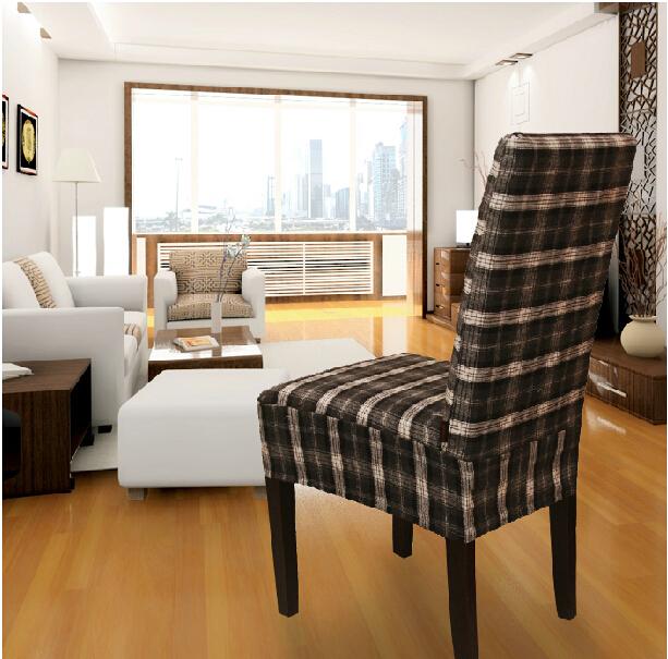 haute qualit 100 coton vichy tissu lavable couverture de chaise pour salle manger chaise. Black Bedroom Furniture Sets. Home Design Ideas