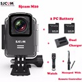 SJCAM M20 Wifi Waterproof Sports Action Camera Sj Cam DV 2Extra Battery Dual Charger Bluetooth Watch