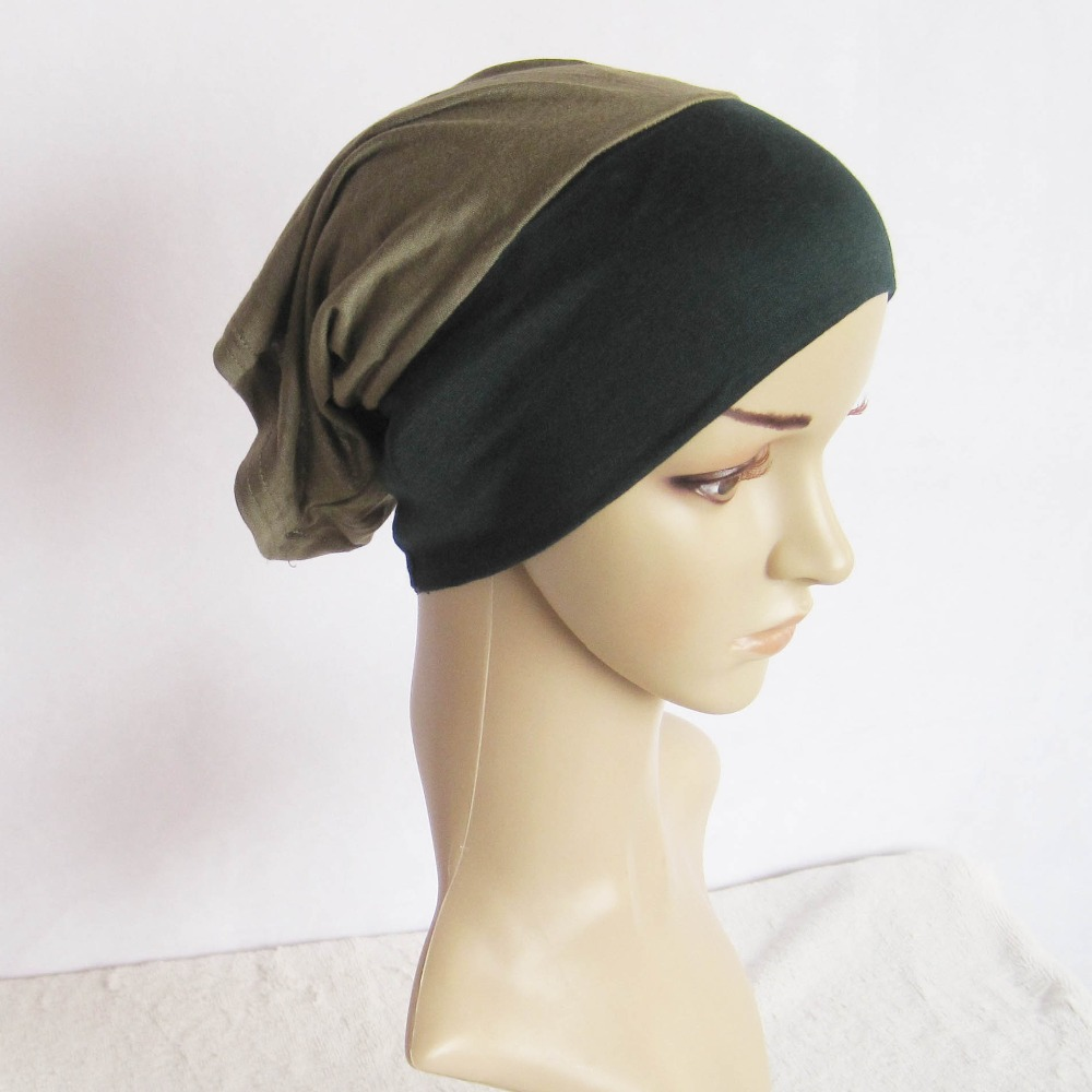 Fashionable Women Inner Jersey String Cap Islamic Hat head Wrap Elastic Tie Back Under Scarf Bonnet Wholesale Free Shipping(China (Mainland))