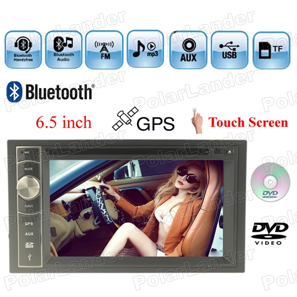 Car DVD 2 Din 6.5'' steering wheel control GPS navigation Touch Screen Bluetooth Radio MP4 MP5 7 languages FM/AM/USB/AUX/TF(China (Mainland))