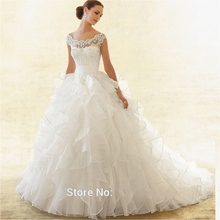 Buy Lace Wedding Dresses Ball Gown Ruffle Sequin Wedding Gowns Weding Bridal Bride Dresses Weddingdress vestidos de novia for $169.20 in AliExpress store