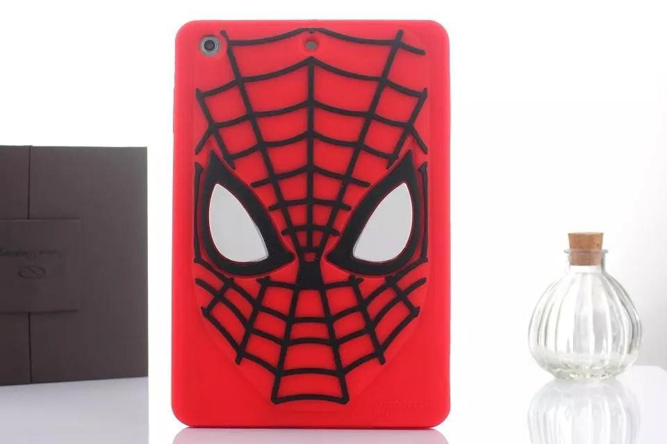 Superhero Batman Spiderman Silicone Cover Case For iPad 2 3 4  with screen protector 1pc