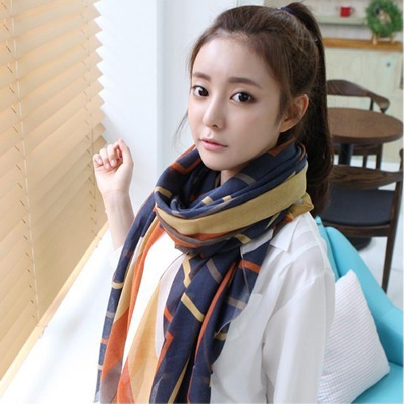 Trendy Bohemian Women's Long Print Scarf Wrap Ladies Shawl Girl Large Winter Warm Pretty Scarf 2015 New Fashion Free Shipping(China (Mainland))