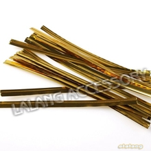 Hot selling 2400pcs/lot Packing Handmade Findings Gold Iron Wire Twist Tie For Candy Bag Bandaged 8cm 130385(China (Mainland))