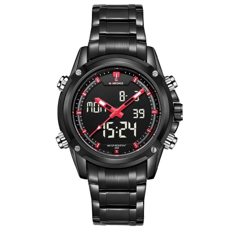 NAVIFORCE Men Watches TOP Brand Full Steel Men Watch Quartz Clock Digital LED Mens Sport Watch Quartz Men Military Wristwatches<br><br>Aliexpress