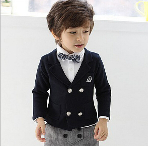 2016 Spring Autumn Boys Blazers Kids Solid Child Casual Outerwear Baby Blazer Boy Suit - Fashion Dict. store
