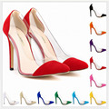 10 Colors SIZE 34 42 Spring Autumn Flock Women Pumps High Heels Pointed Toe Women Shoes