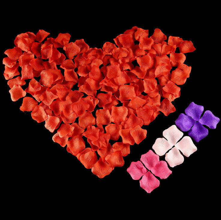 100pcs Silk Rose Petals Table Confetti Petal Flower Decoration Engagement Wedding Flower Petals Birthday Party Deco