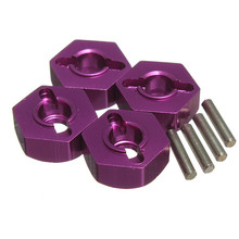 Purple Aluminum 12mm Wheel Drive Hex With Pin 4P HSP 1:10 Upgrade Parts 102042 (02134)(China (Mainland))