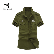 Buy M-6XL Plus Size New Casual Mens Military Shirts Cotton Short Sleeve Brand Clothing Slim Army Dress Shirt Men Camisa Masculina for $11.99 in AliExpress store