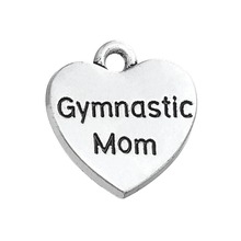 Buy shape 20pcs heart gymnastic mom sporty charm engraved pendant for $9.48 in AliExpress store