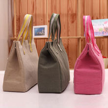 Excellent Quality Lancheira Lunch Bags Cooler Insulated Lunch Bag for Women Thermal Canvas Bag Lunch Bolsa