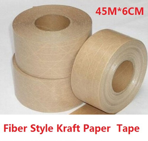 45M*6CM/Vintage Blank Fiber Style Kraft Paper Adhesive Tape/package tape/DIY seal sticker for handmade product/Wholesale(China (Mainland))