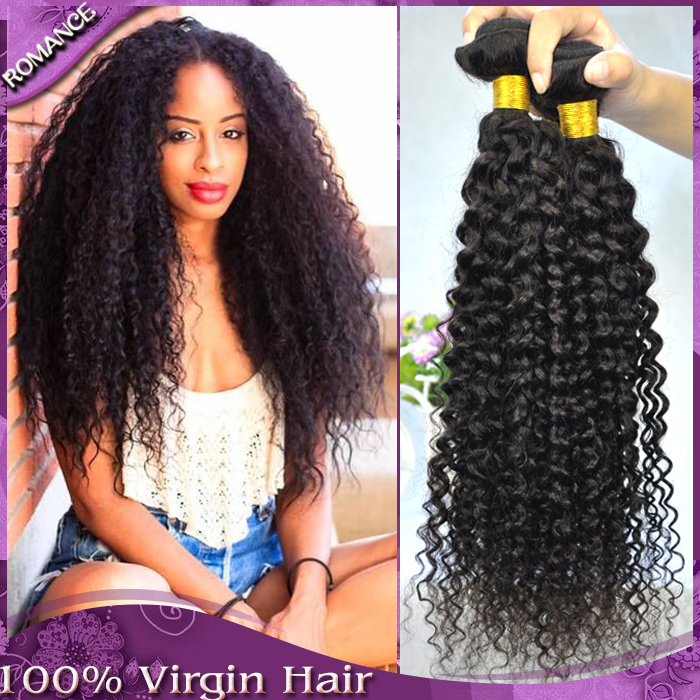 Buy 2 Get 1 Romance Hot 6A Mongolian Kinky Curly Hair Weaves 3pcs Mongolian Afro Kinky Curly Virgin Hair Best Cheap Human Hair(China (Mainland))