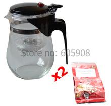 Style A*500ml Glass Teapot With Filter Glass Tea Cup Tea Mug Teaset With 10g High Quality Black Tea