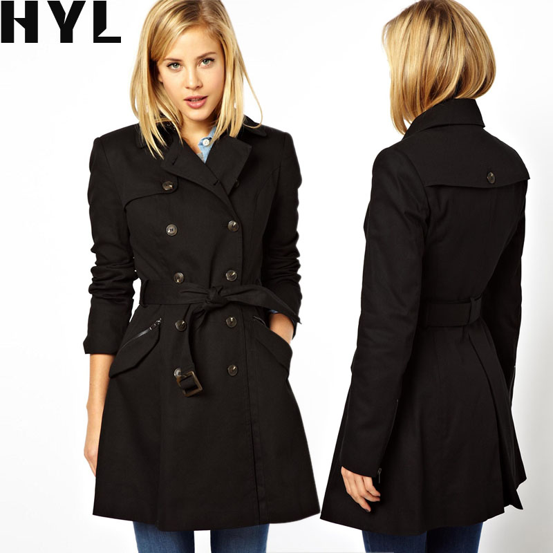 2014 fashion autumn and winter plus size women coat slim double breasted slim waist belt female trench overcoatОдежда и ак�е��уары<br><br><br>Aliexpress