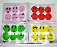 15000 PCS (1Pack=6pcs) DHL Free Shipping,Anti Mosquito Repellent Sticker Patch 6 Smiley Face Drive Midge Citronella Patches Trap(China (Mainland))
