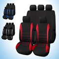 2016 Universal Car Seat Cover 9 Set Full Seat Covers for Crossovers Sedans Auto Interior Accessories