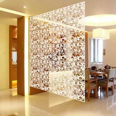 4PC Lot Folding Screen Room Divider Living Room Fashion Entranceway Door Hang