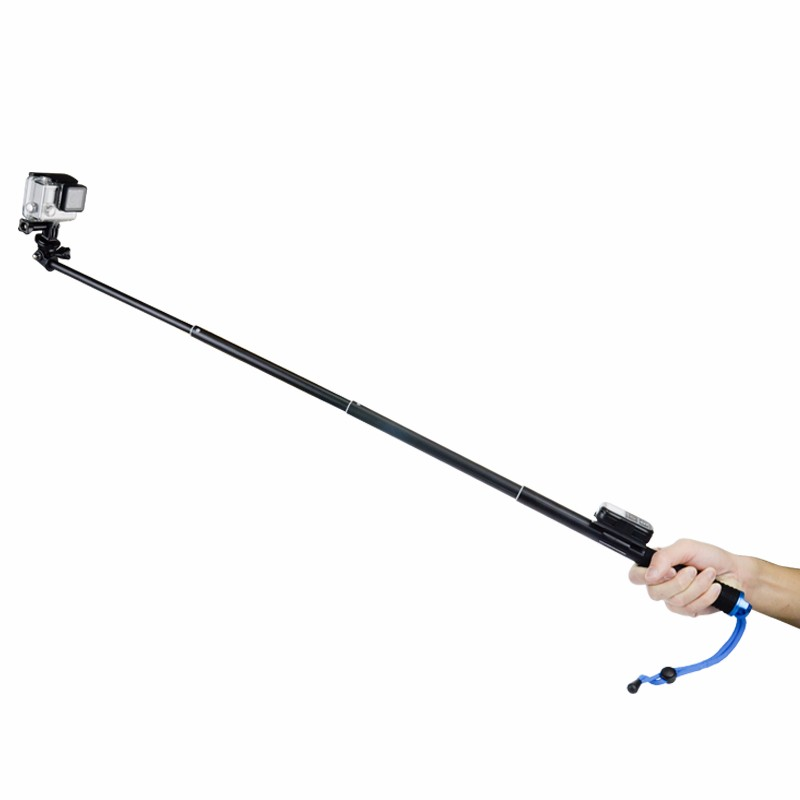 high quality waterproof 94cmaluminum extendable selfie stick monopod pole for gopro sjcam xiaomi. Black Bedroom Furniture Sets. Home Design Ideas